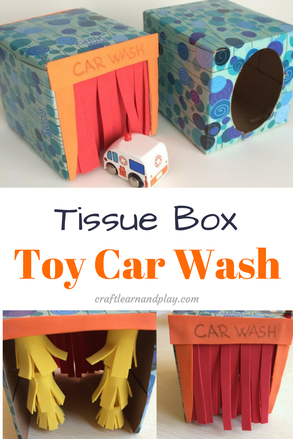 Toddler Car Wash Toy Easy Crafts How To Make A Tissue Box Toy Car Wash Craft