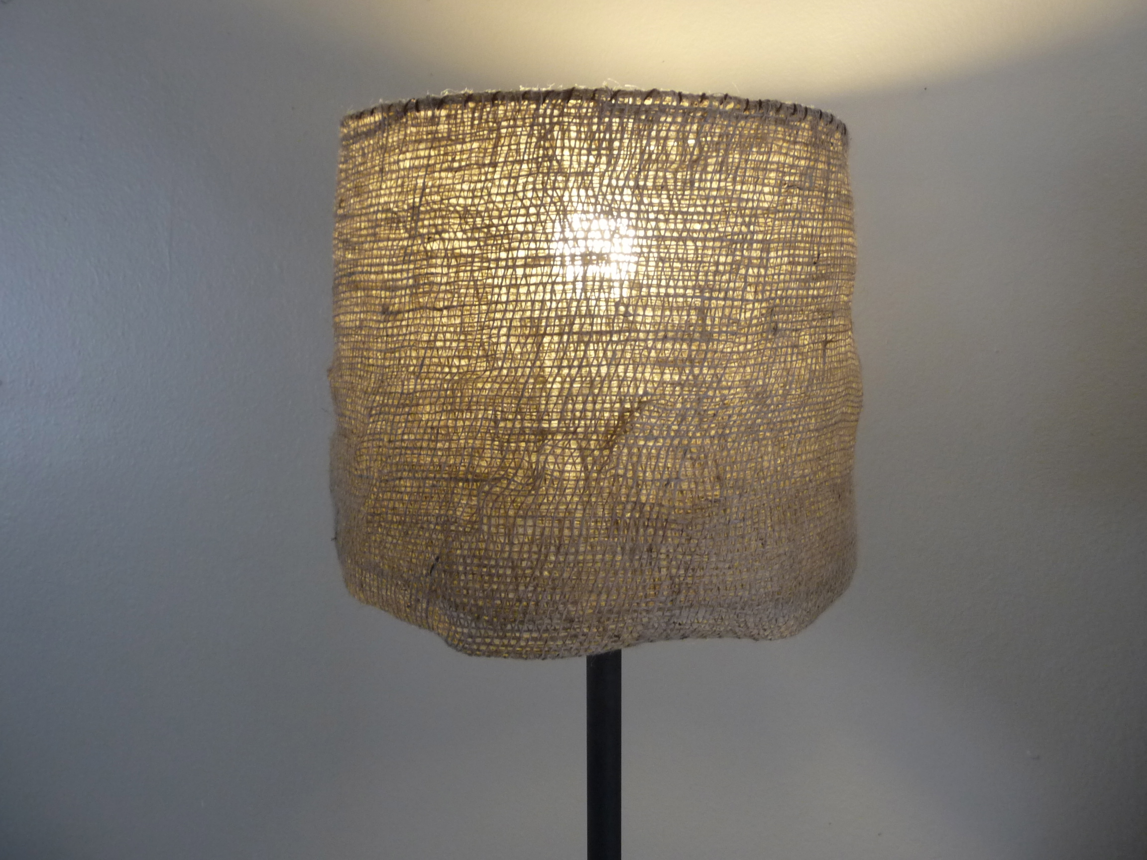 Pied Conique Bois Diy Garden Burlap Lamp Shade - Craft Organic