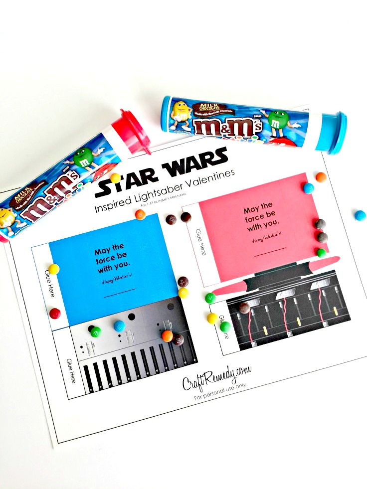 Star Wars Valentines Inspired Lightsabers - Craft Remedy