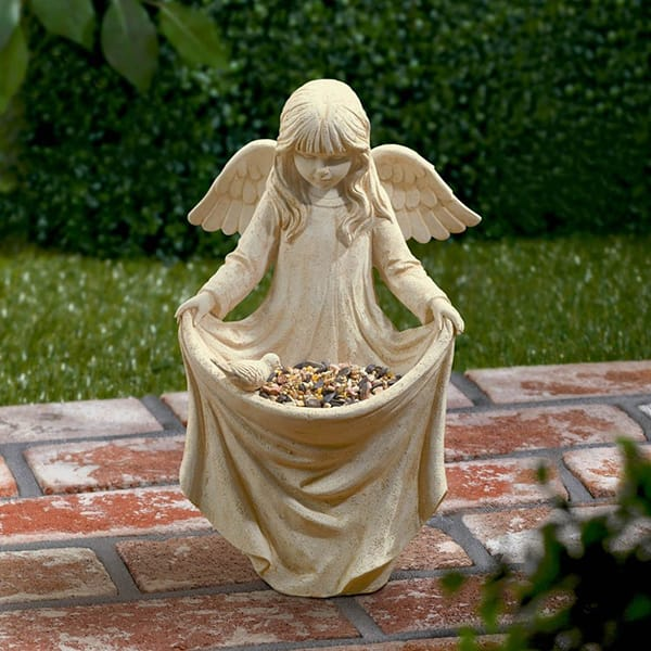 Pantone Color 2016 Resin Angel Figure Statue Bird Feeder