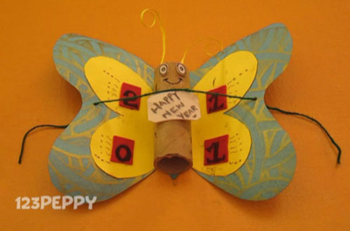 how to make a butterfly new year greeting online 123peppy make new year card
