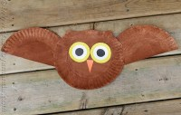 Paper Plate Owl Craft: make a cute owl from a paper plate