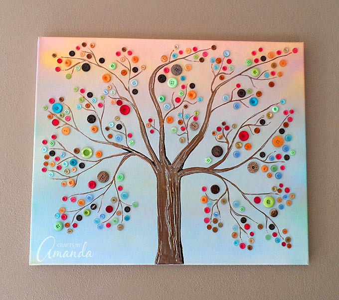 Who Made The Modern Calendar Easter Easter Tondering Button Tree A Beautiful Canvas Project Full Of Vibrant Colors