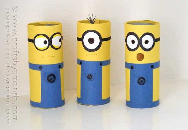 Cardboard Tube Minions an adorable and easy minion craft!