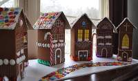 Recycled Village of Gingerbread Houses - Crafts by Amanda