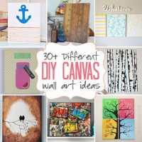 DIY Canvas Wall Art Ideas: 30+ canvas tutorials
