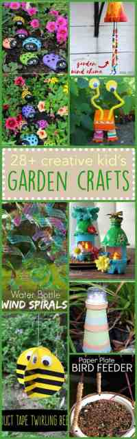 Kid's Garden Crafts: 28+ creative ideas for the little ones
