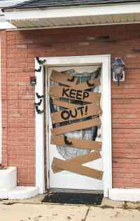 Halloween Door Decoration - Keep Out! Fun decor for your door