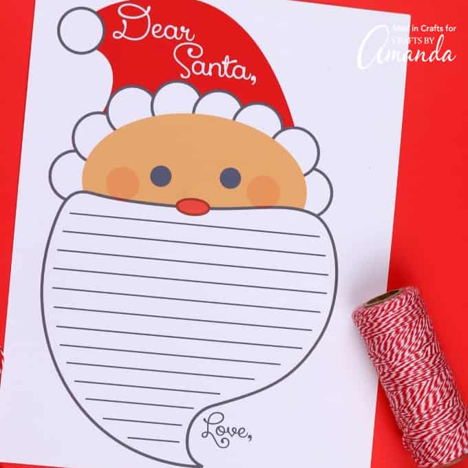 Letter To Santa Printable print off this free letter to santa for