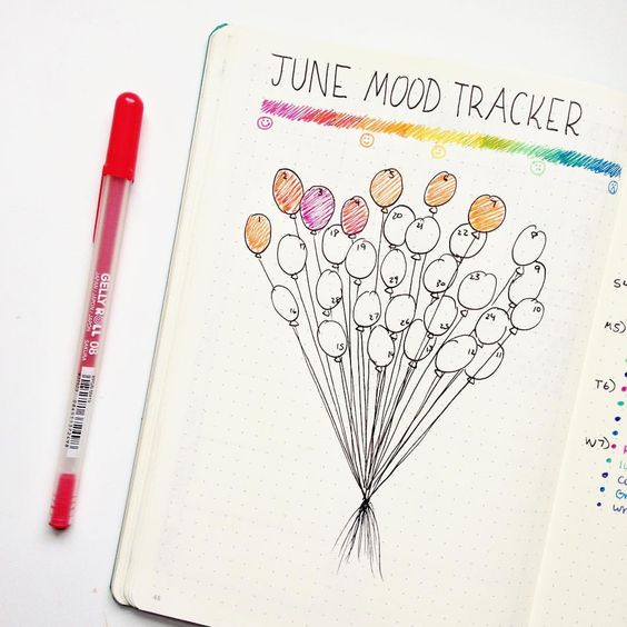 8 Best Bullet Journal Mood Trackers You\u0027ll Rock - Craftsonfire