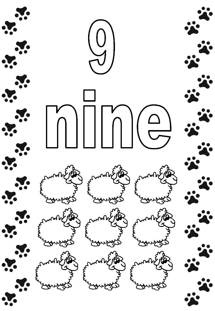 Number 9 Coloring Pages Free Printable - Crafts To Do With Kids - new coloring pages of number 9