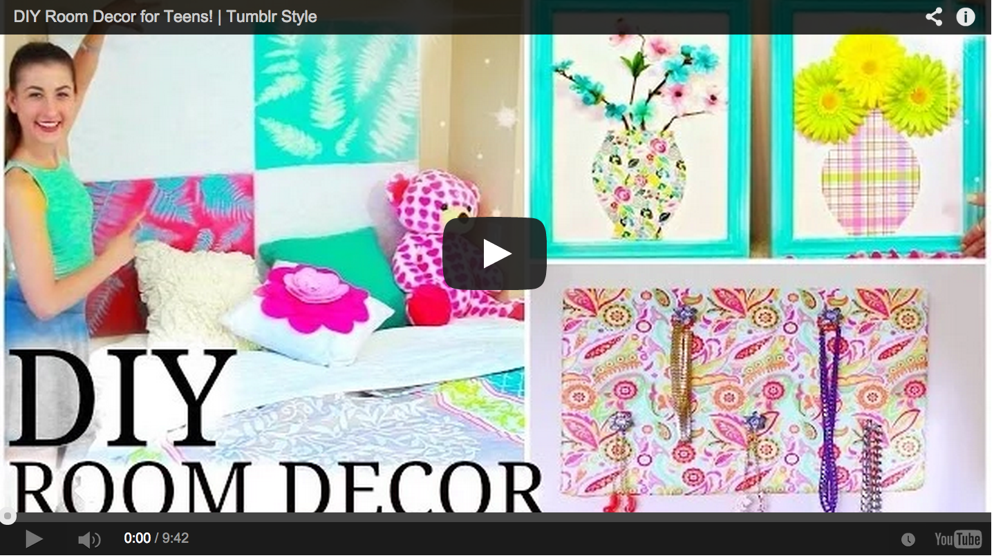 Room Decoration Ideas For Teenagers Tumblr Diy Room Decor For Teens Tumblr Style Craft Teen