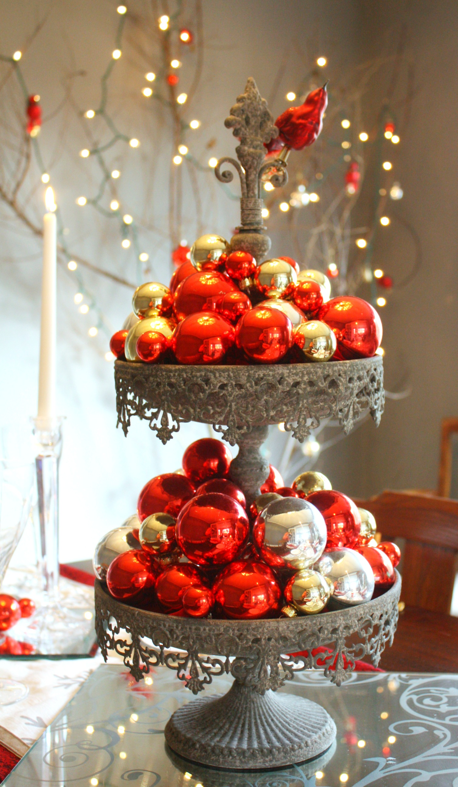 Dekoration Rot Red & Silver Christmas Table Setting • Craft Thyme
