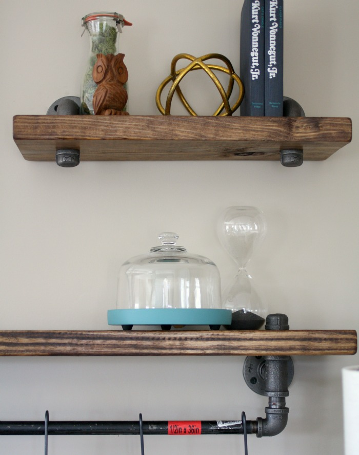 Industrial Pipe And Wood Bookshelves O Craft Thyme