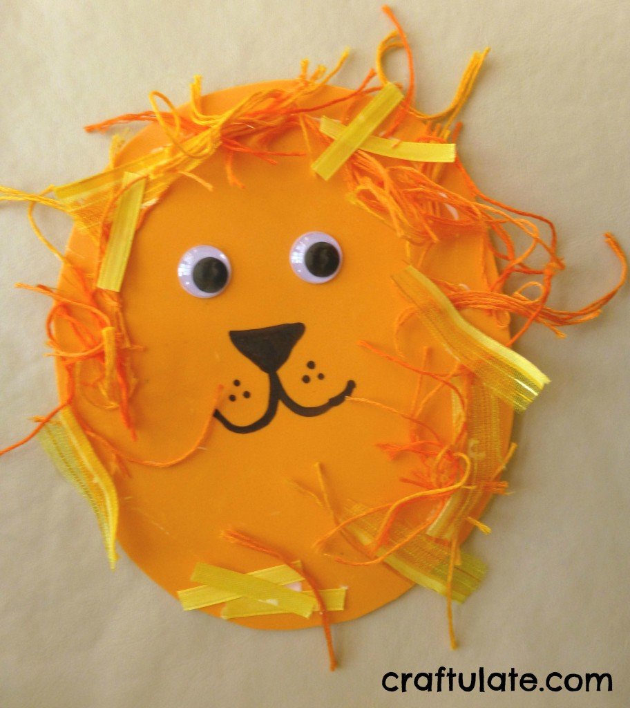 Art And Craft For Preschool Lion Crafts For Toddlers Craftulate