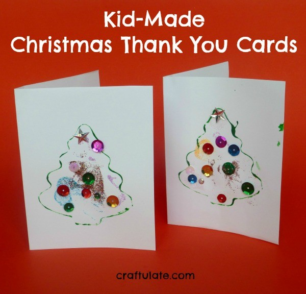 Kid-Made Christmas Thank You Cards - Craftulate
