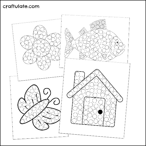 easy mosaic patterns printable  color pages