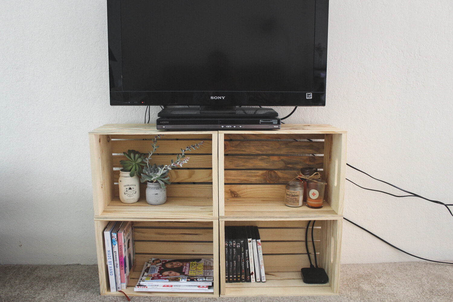 20 Easy And Unique Tv Stand Ideas For Your Next Project Crafty Club Diy Craft Ideas