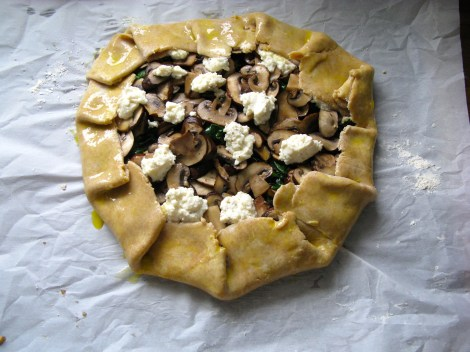 Swiss Chard and Mushroom Galette