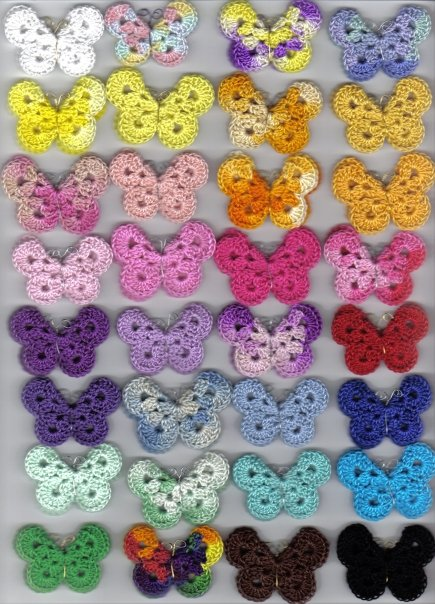 Crochet Butterfly : Crochet Butterfly Pattern by Angie on her blog Treasures for Tots