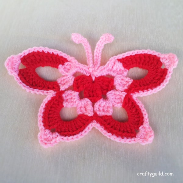 Free Download Crochet Butterfly Pattern : 15 Free Crochet Butterfly Patterns - Crafty Guild