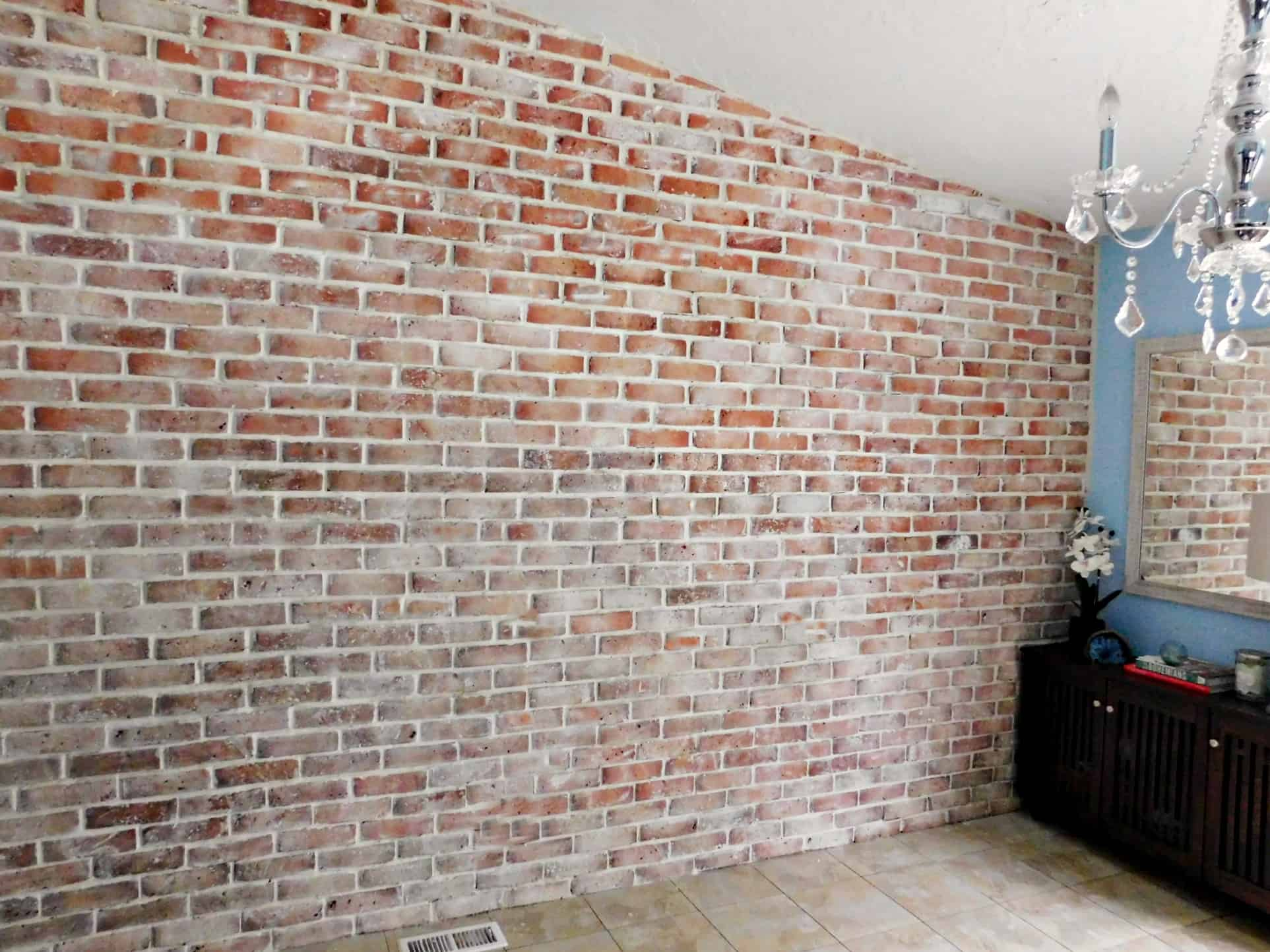 Brick Veneer Accent Wall How To Grout Brick Wall Tiles Tile Design Ideas
