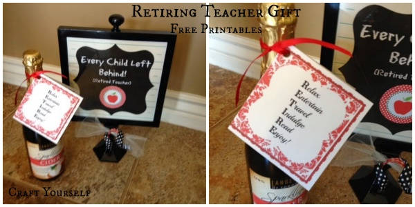 Retiring Teacher Gift with Free Printables - Craft