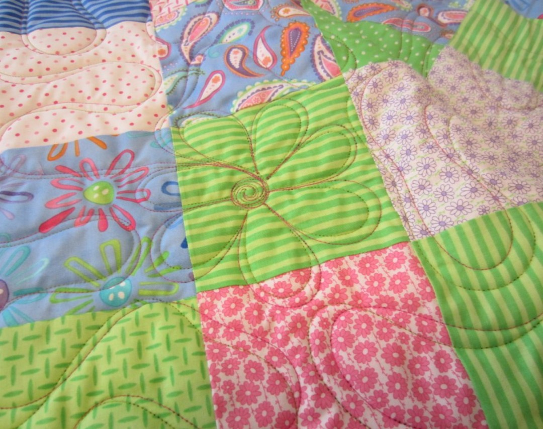 Two Color Ribbon Quilting with Flower