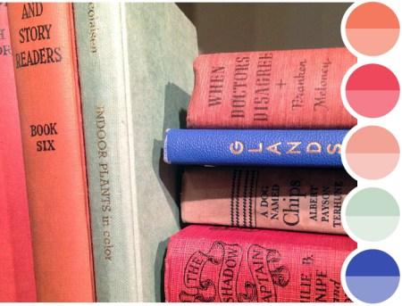 Vintage Book Color Inspiration