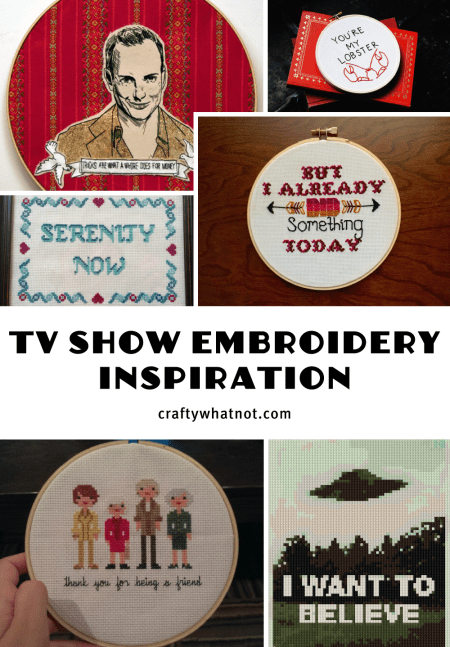 tv show embroidery inspiration from craftywhatnot.com
