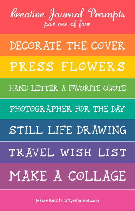 creative journal prompts | crafty whatnot.com