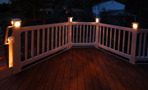 Deck railing lighting democraciaejustica deck railing lights aloadofball Choice Image