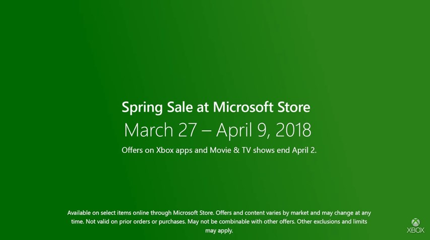 Microsoft Store Xbox Spring Sale 2018 - Cramgaming