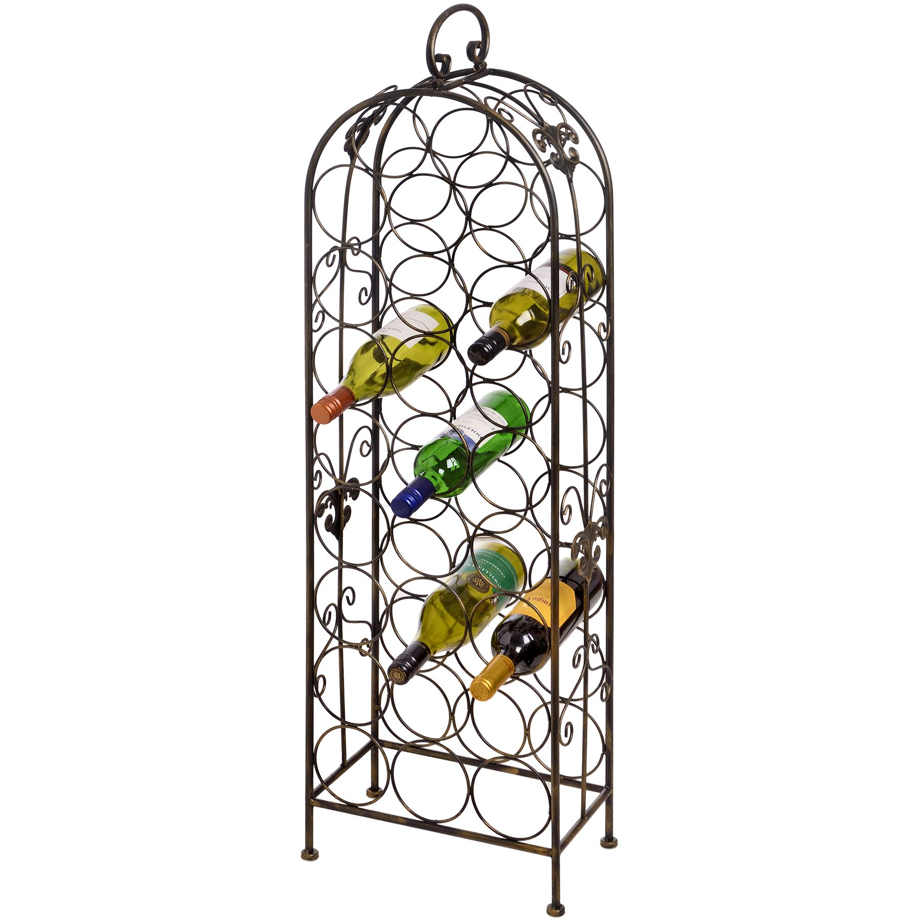 Iron Wine Rack Wall Mounted 24 Bottle Metal Wine Rack Cranville Wine Racks