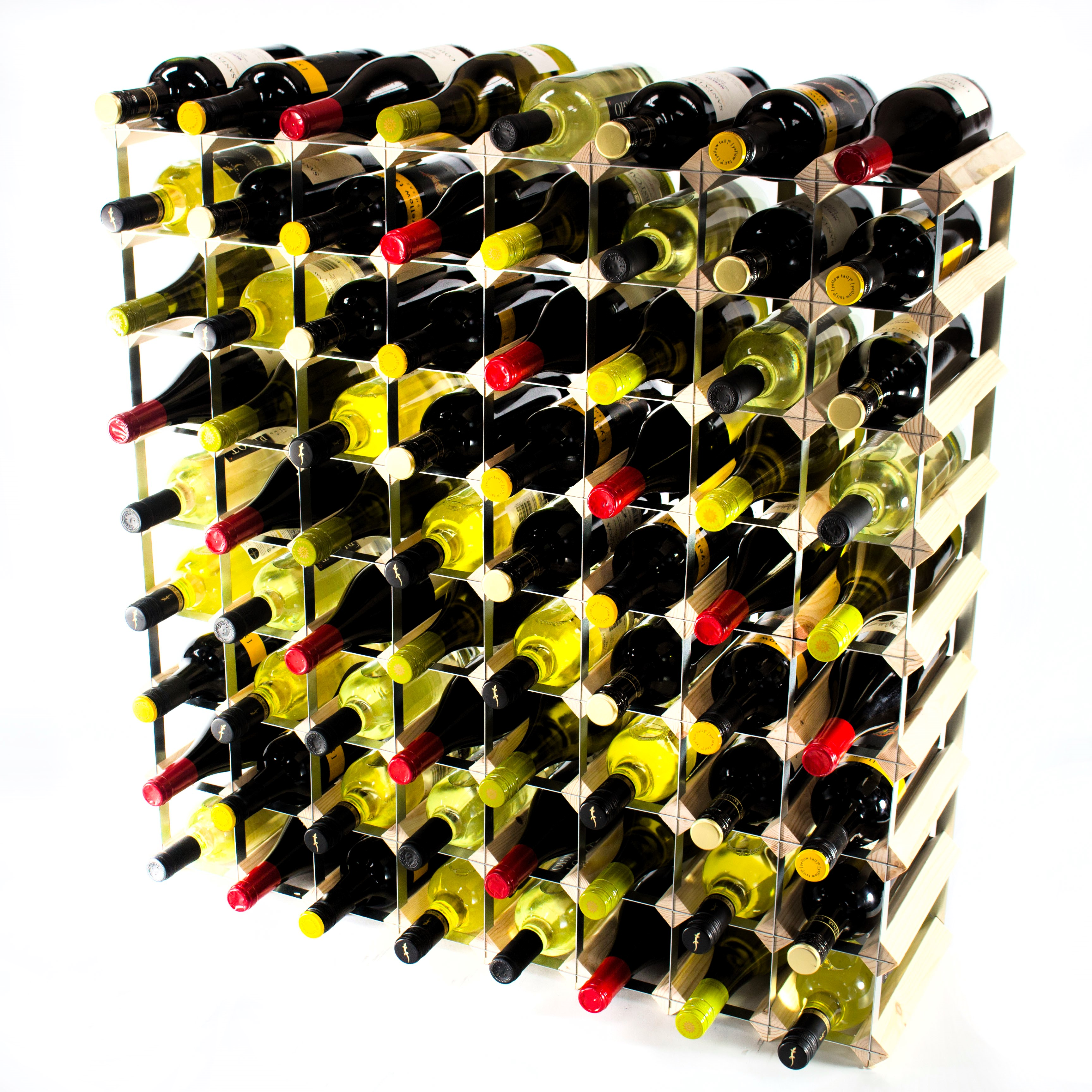 Other Uses For Wine Racks Classic 72 Bottle Pine Wine Rack Ready Assembled Cranville