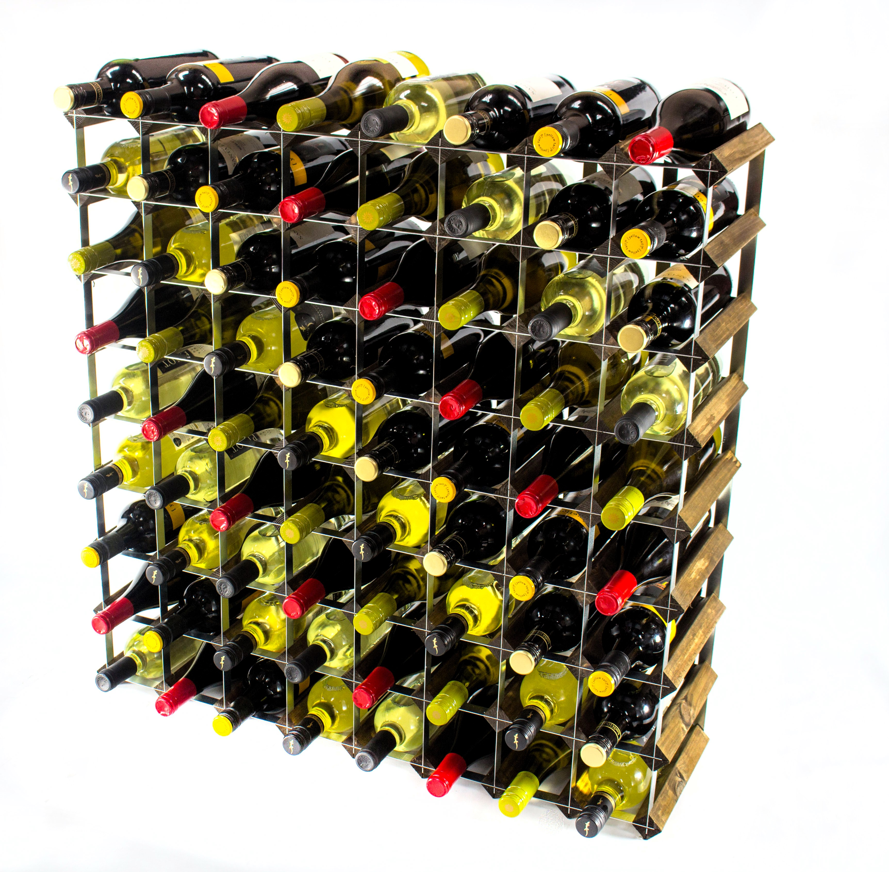 Other Uses For Wine Racks Cranville 72 Bottle Walnut Stained Wood And Metal Wine
