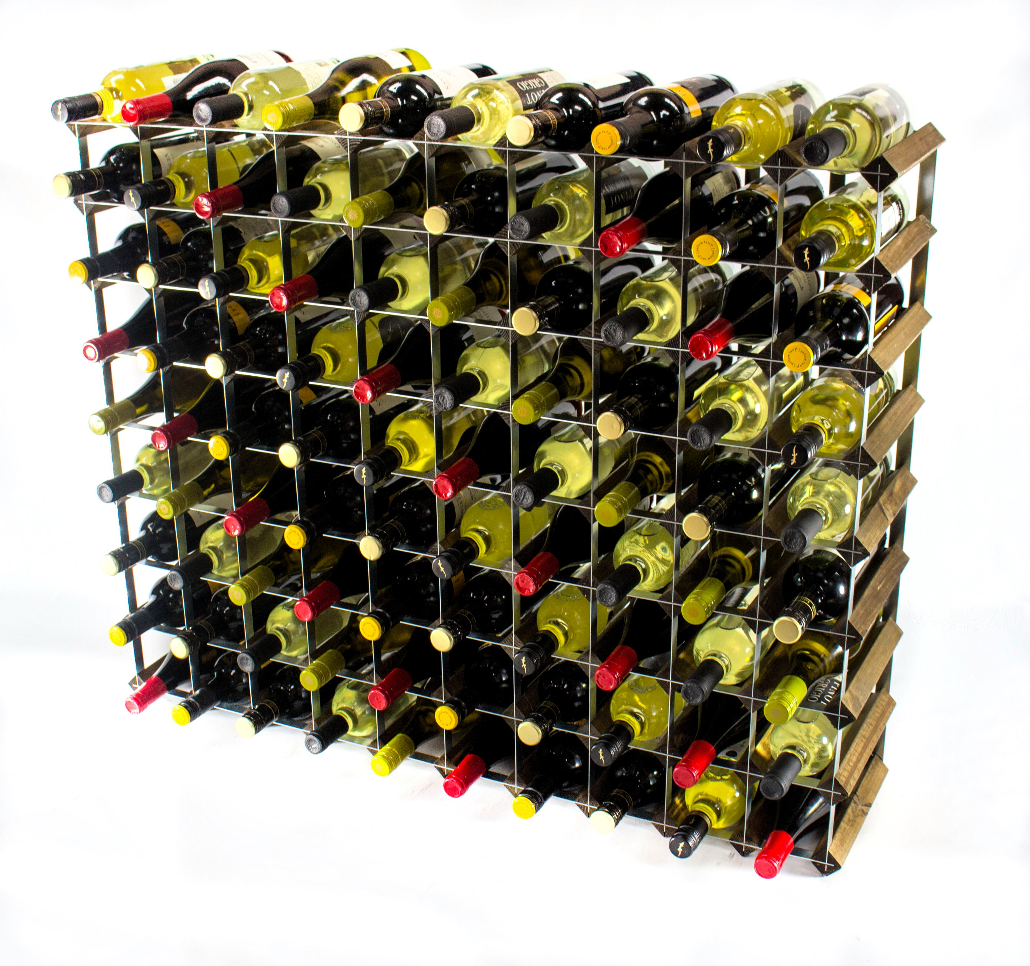 Other Uses For Wine Racks Classic 90 Bottle Walnut Stained Wood And Metal Wine Rack