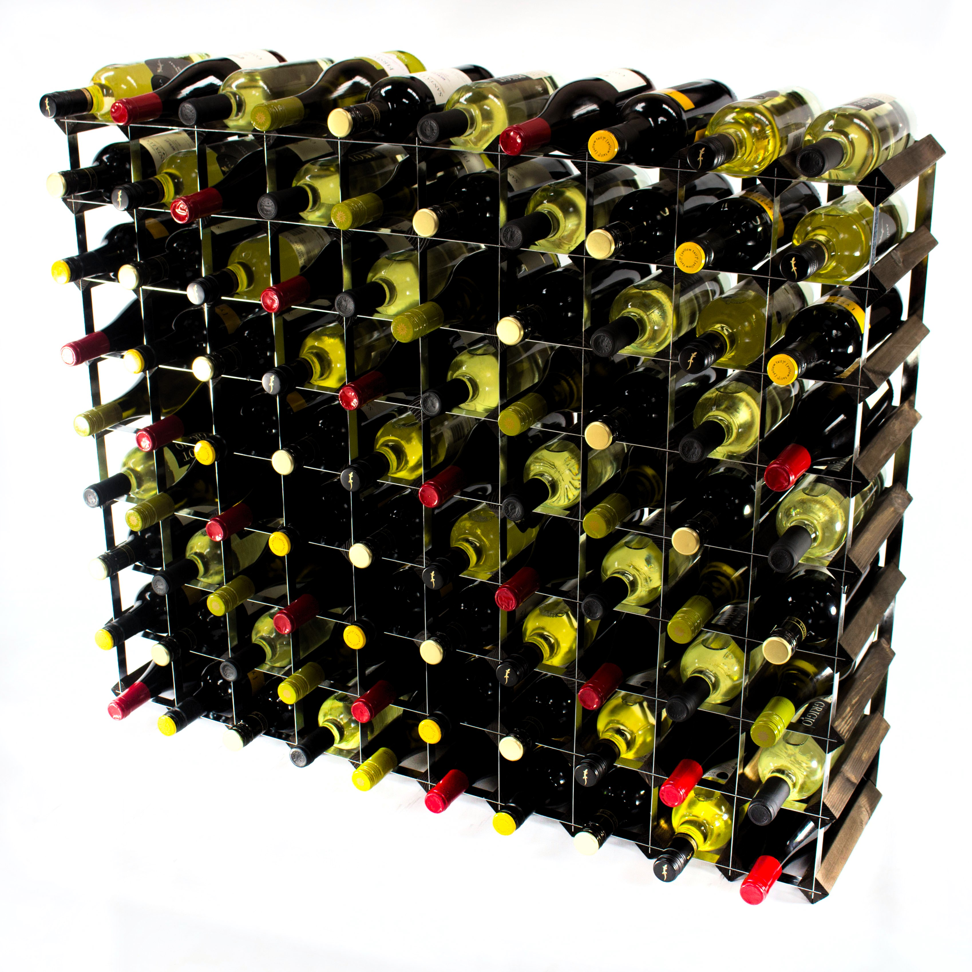 Other Uses For Wine Racks Cranville 90 Bottle Dark Oak Stained Wood And Metal Wine