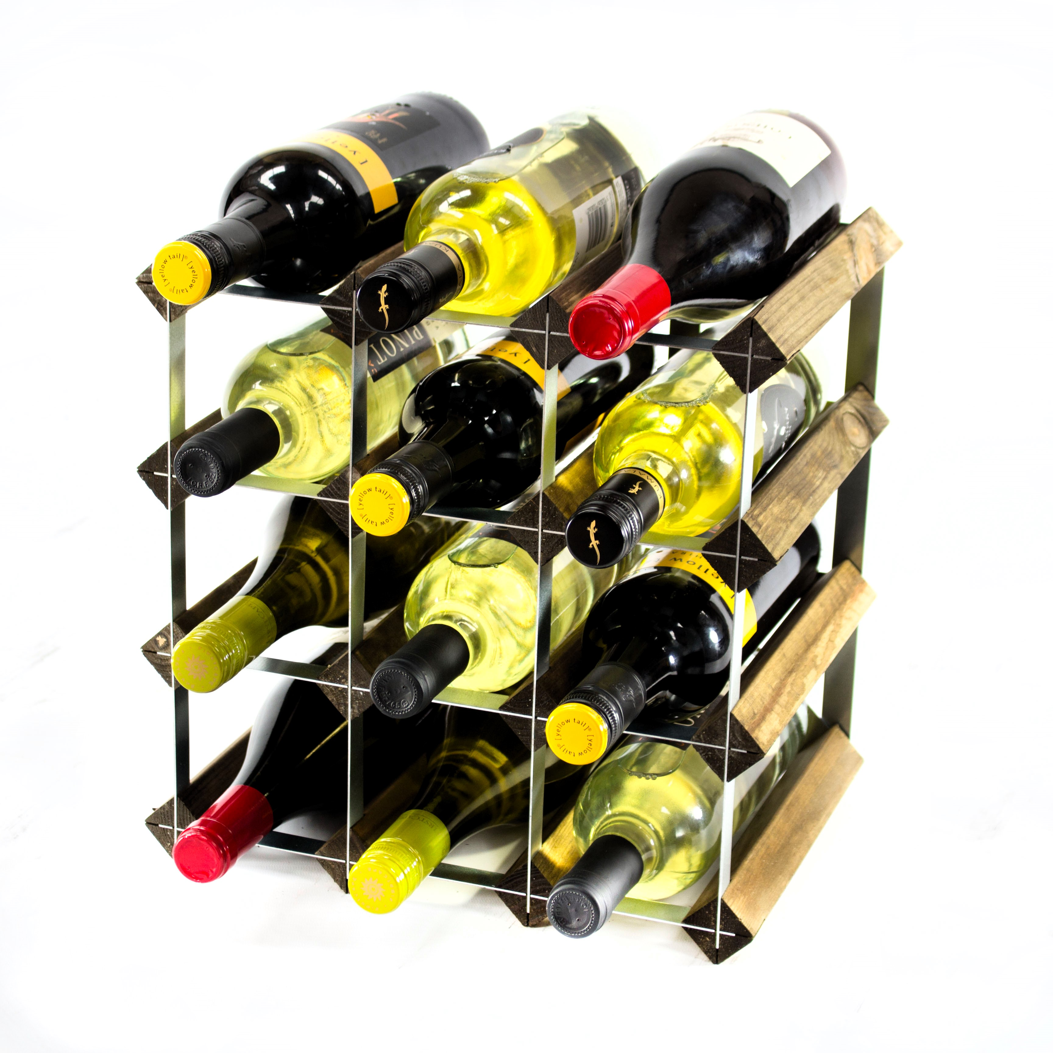 Other Uses For Wine Racks Classic 12 Bottle Walnut Wine Rack Ready Assembled