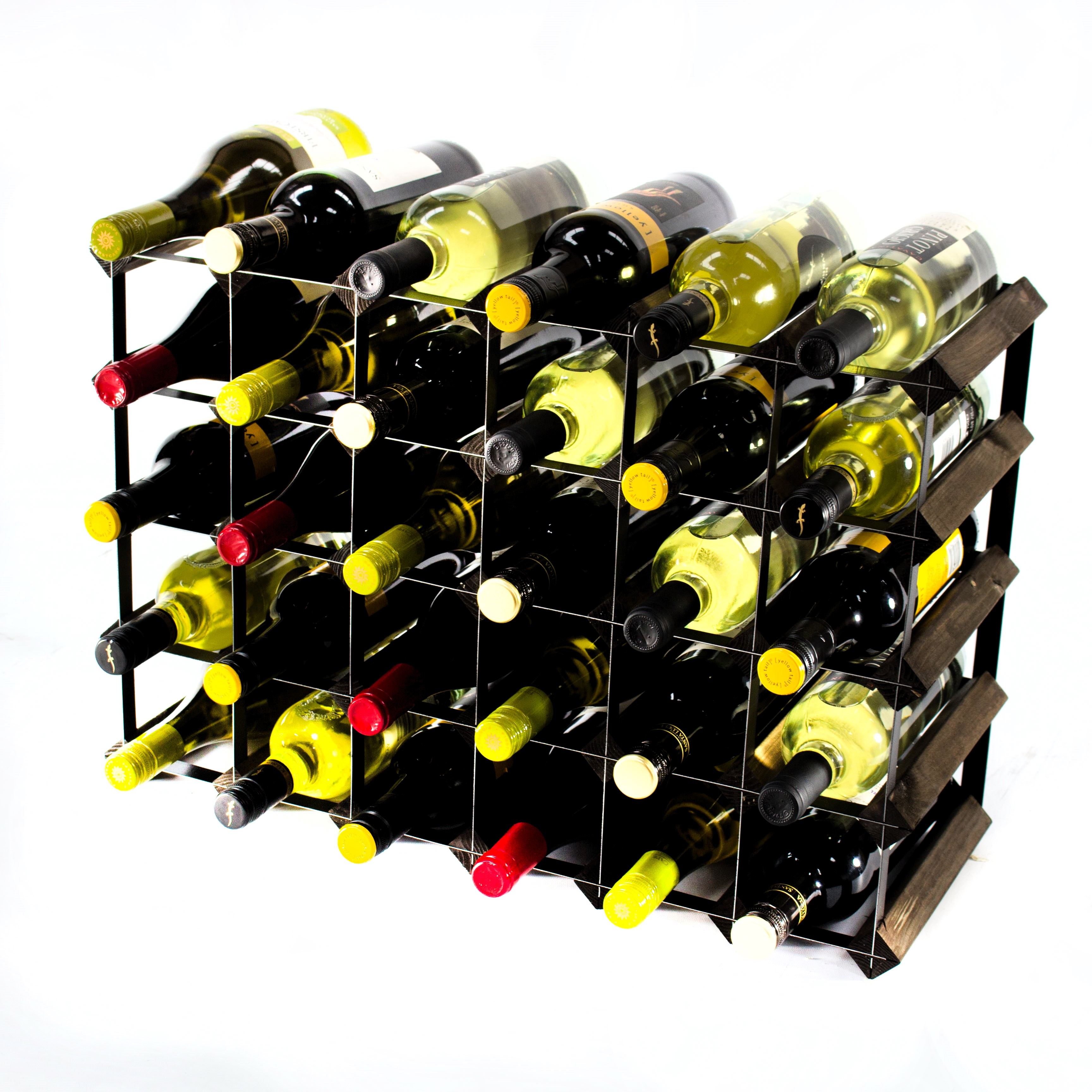 Other Uses For Wine Racks 30 6x4 Bottle Dark Oak And Black Metal Wine Rack Ready