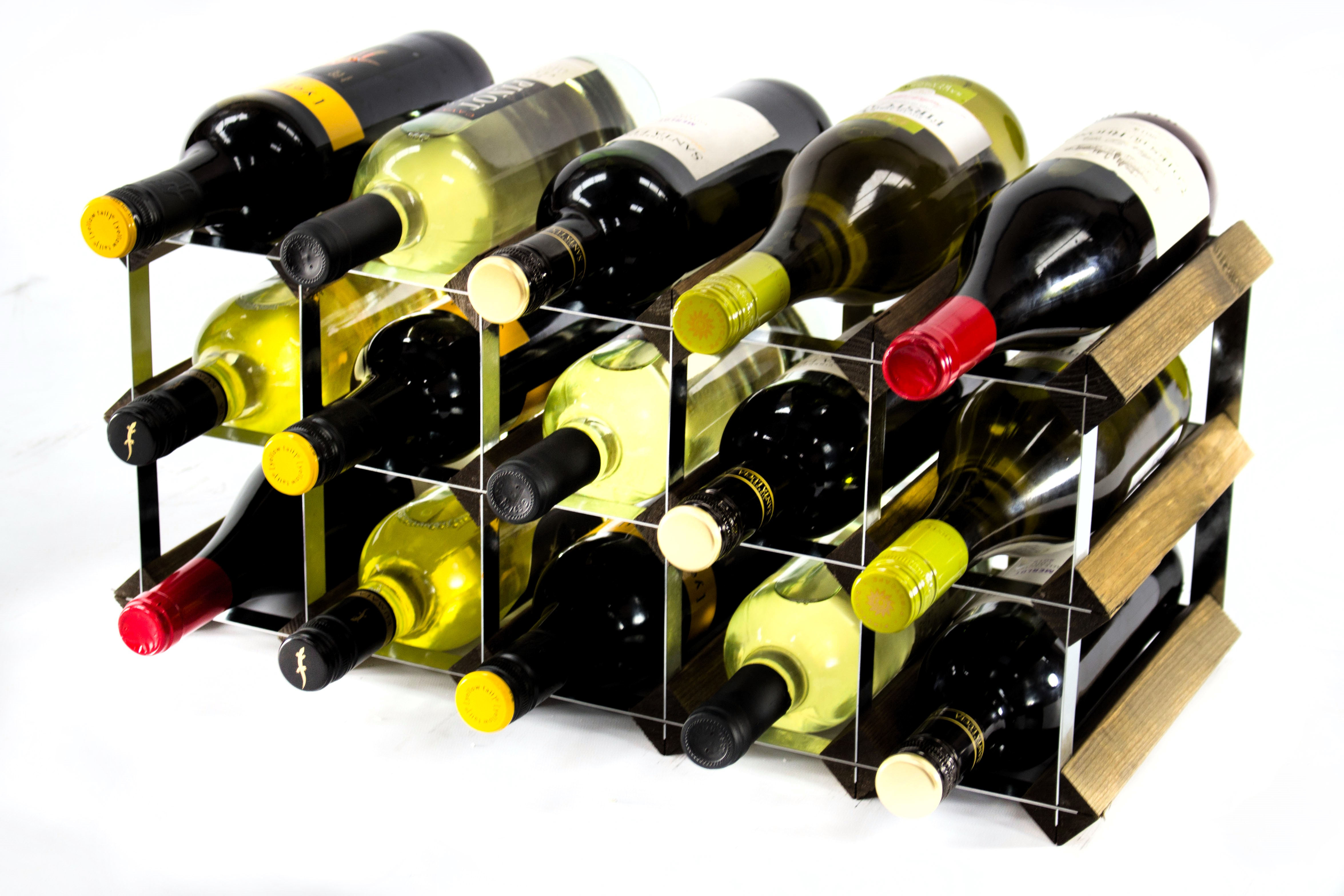 Other Uses For Wine Racks Classic 15 Bottle Walnut Wine Rack Ready Assembled