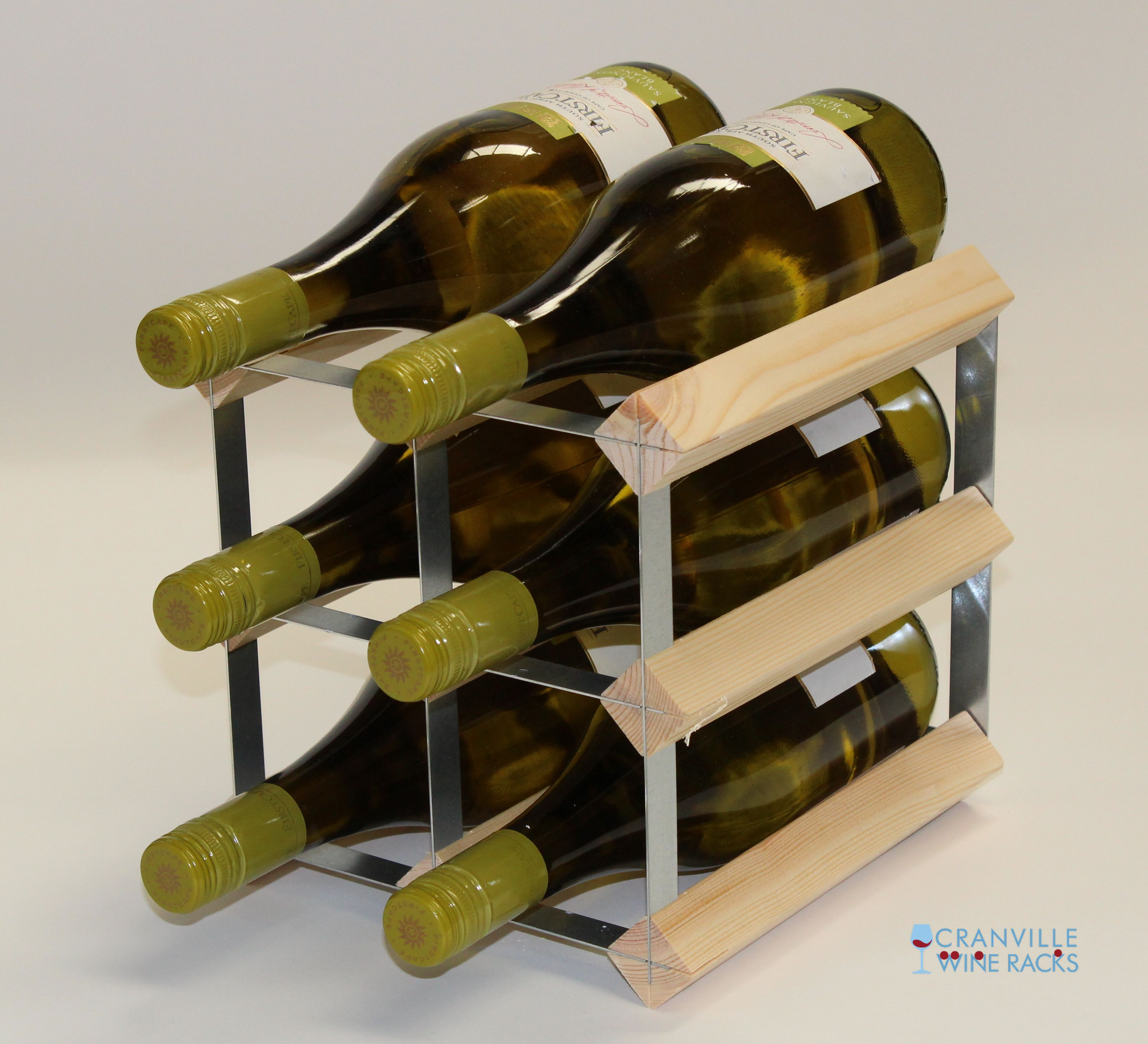 Other Uses For Wine Racks Classic 6 Bottle Wine Rack Ready Assembled Cranville