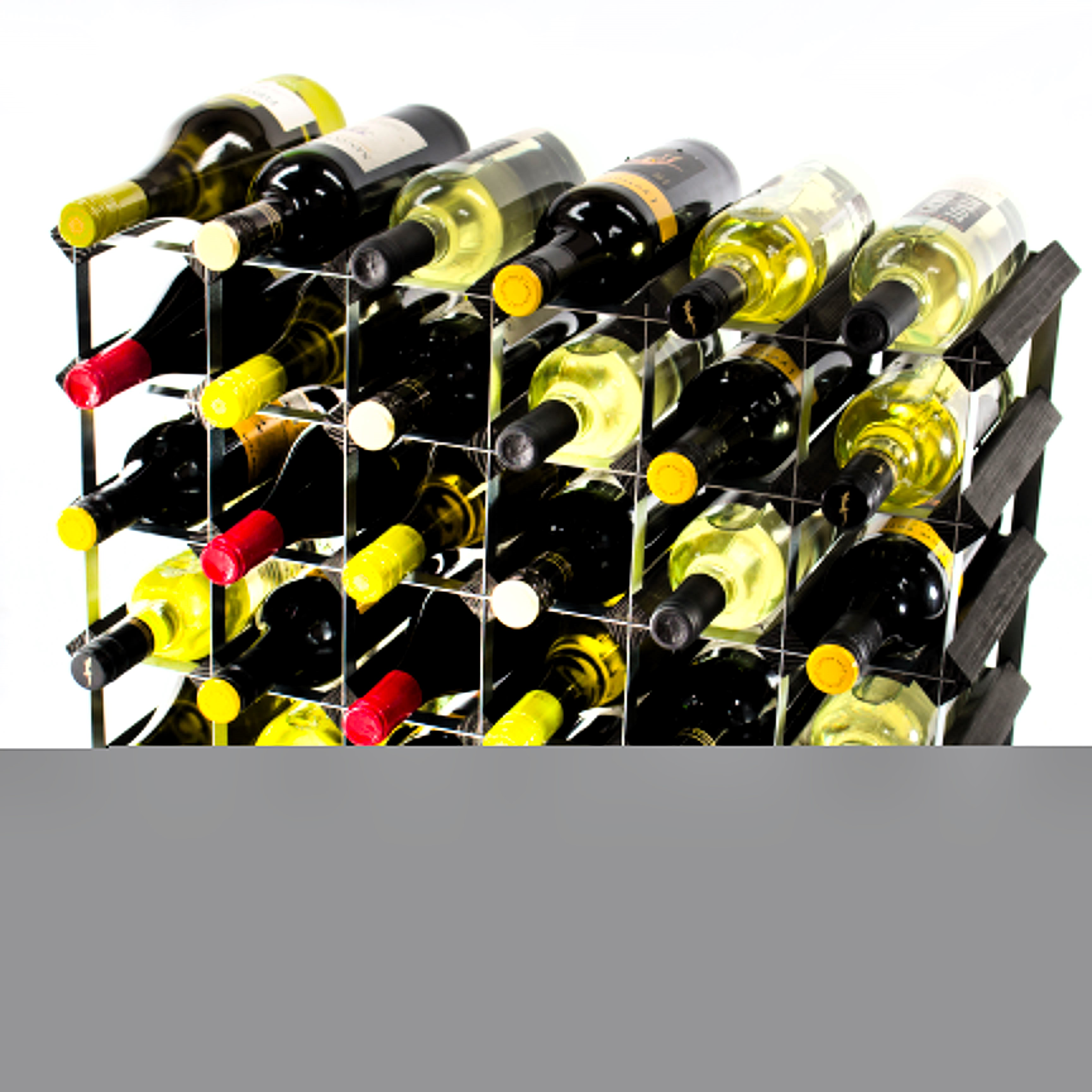Other Uses For Wine Racks 30 6x4 Bottle Black Wood And Metal Wine Rack Ready Assembled