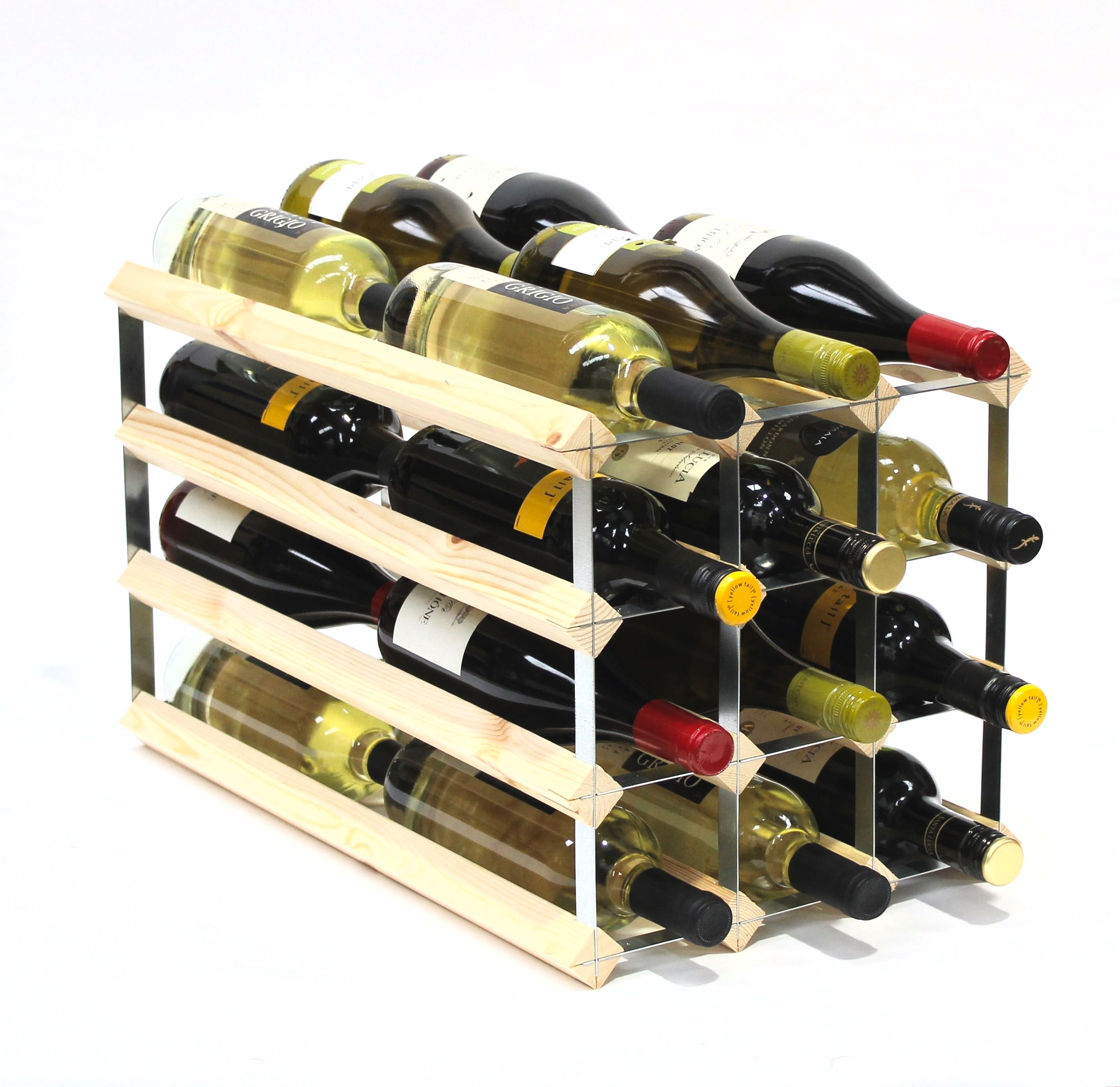Other Uses For Wine Racks Double Depth 24 Wine Rack Ready Assembled Cranville