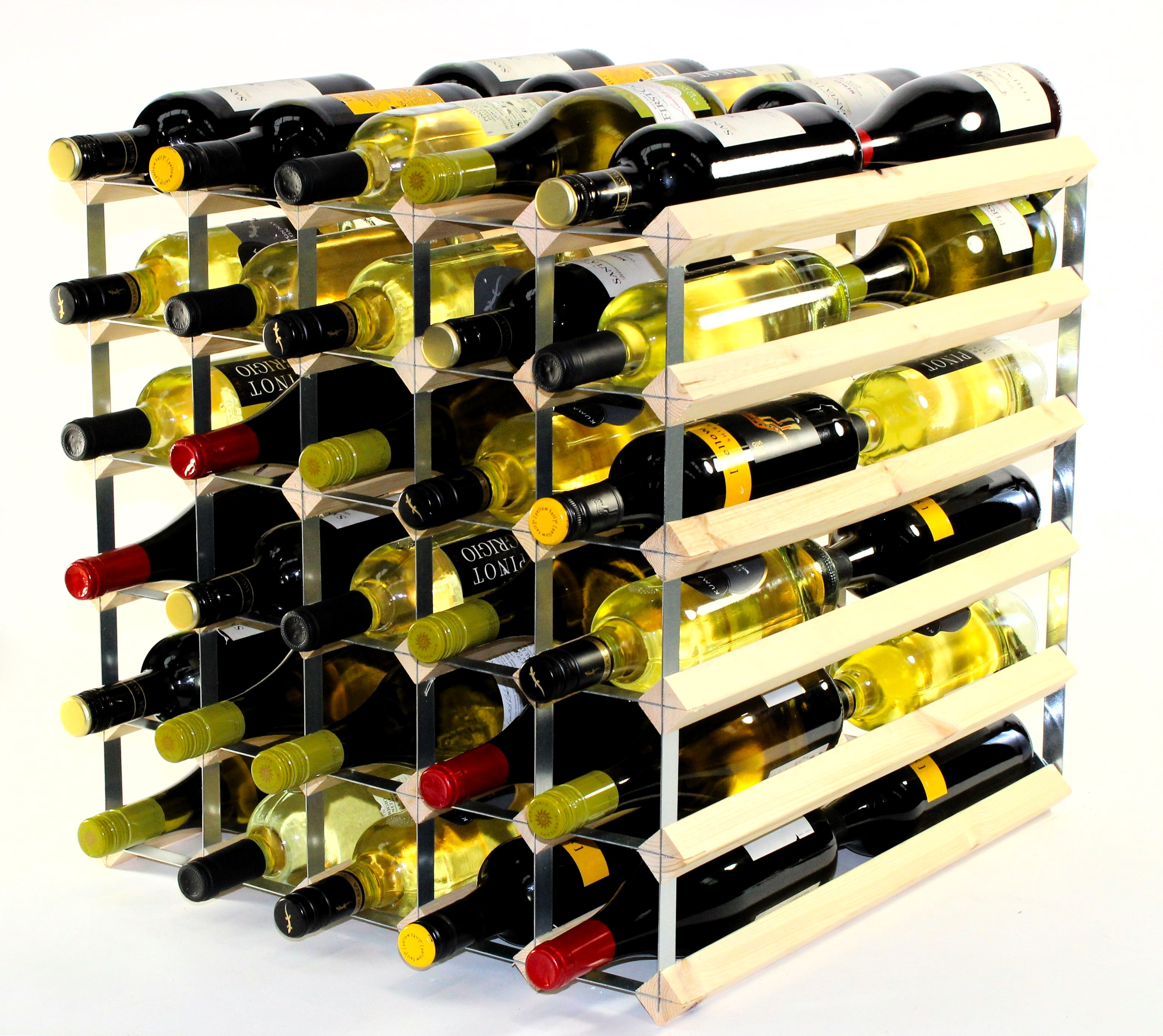 Other Uses For Wine Racks Double Depth 60 Wine Rack Ready Assembled Cranville