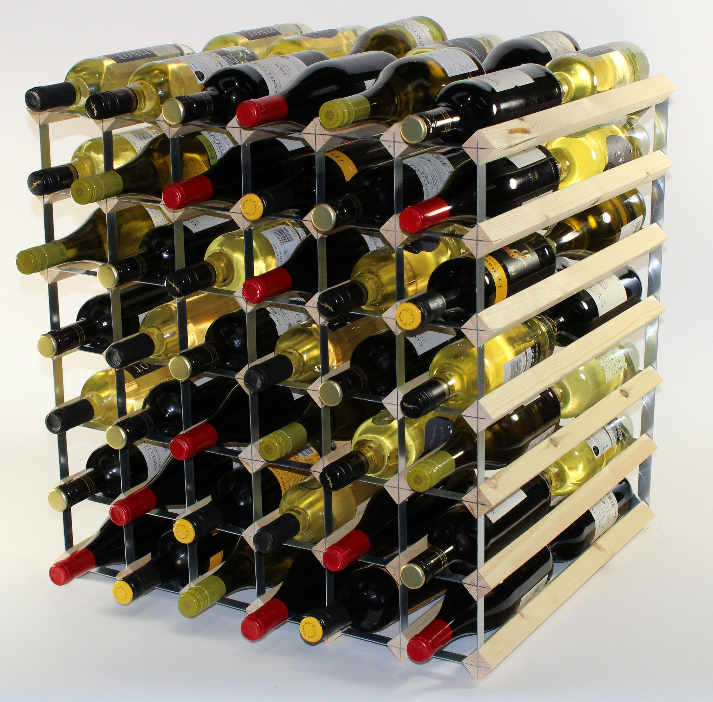 Other Uses For Wine Racks Double Depth 84 Wine Rack Ready Assembled Cranville