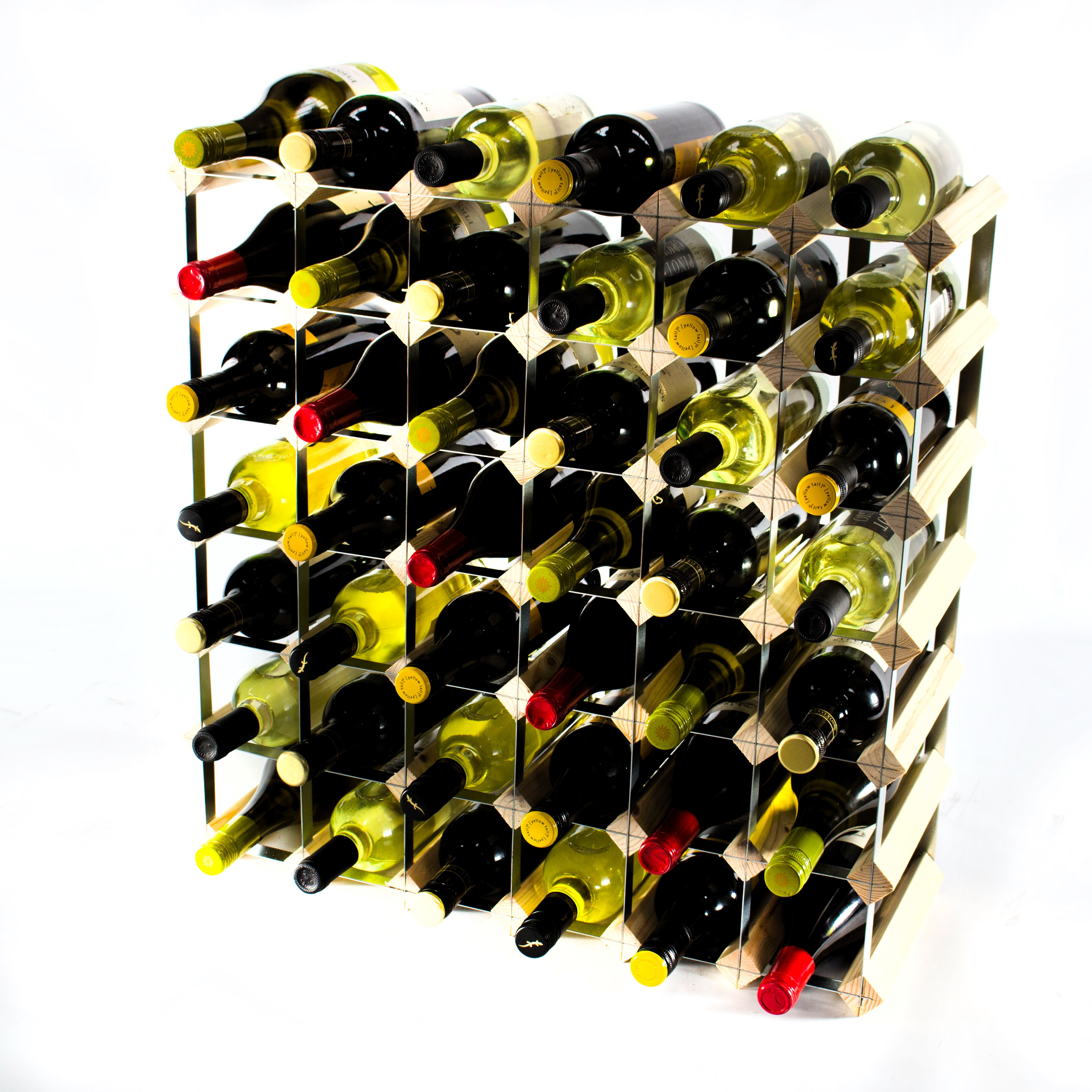 Other Uses For Wine Racks Classic 42 Bottle Wine Rack Self Assembly Cranville