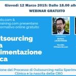 Webinar divulgativo: L'outsourcing nella sperimentazione clinica e la nascita delle CRO