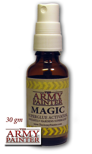 The Army Painter Magic Superglue Activator has a spray pump.