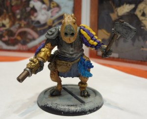 Capybara Conquistador miniature from On the Lamb Games for Brushfire.